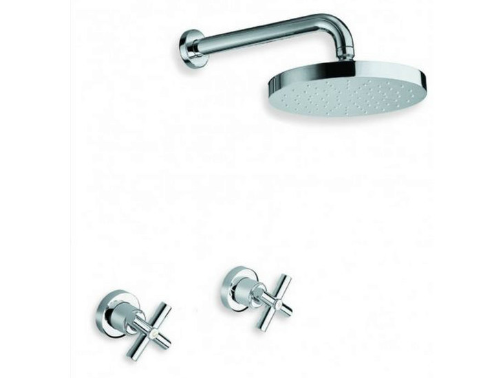 3 hole chrome-plated shower tap with overhead shower EXCLUSIVE | Shower tap with overhead shower by CRISTINA