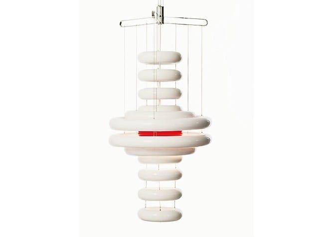 Direct-indirect light plastic pendant lamp UFO by Verpan