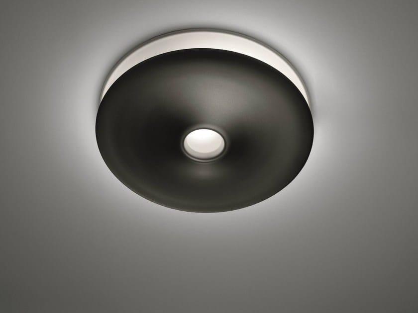 Fluorescent aluminium ceiling lamp LUNARPHASE by Artemide