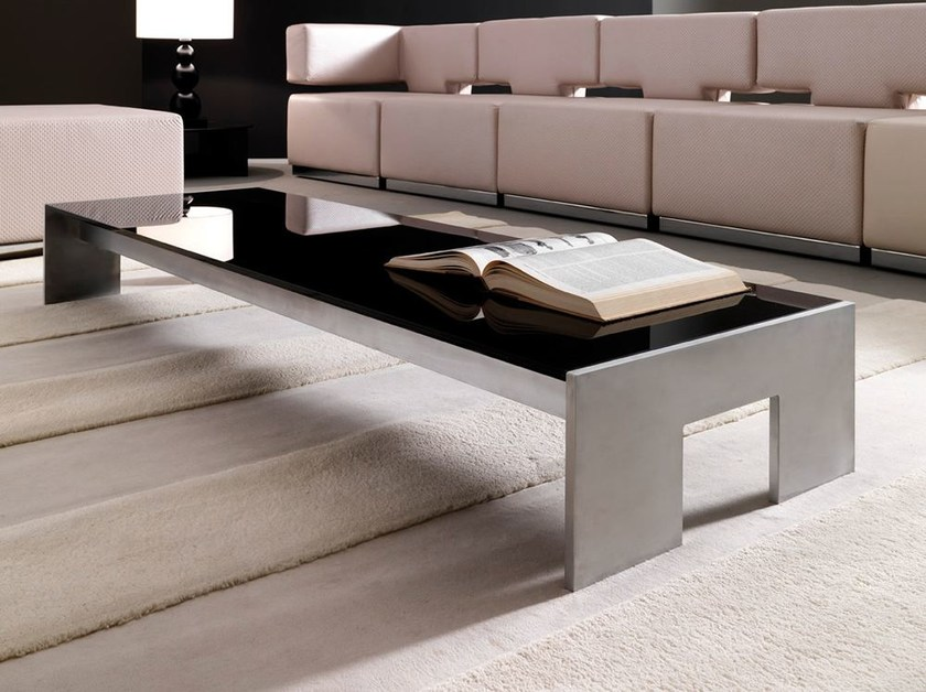 Low rectangular lacquered glass coffee table TOUCH   Coffee table by Esedra