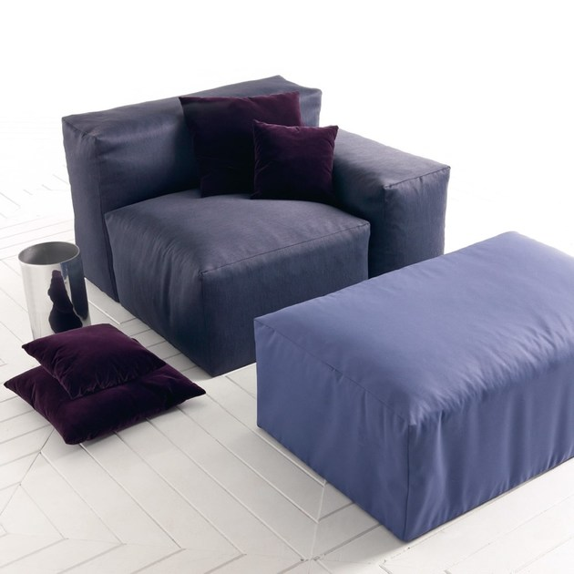 Sectional Upholstered Fabric Sofa XXL By Esedra Design