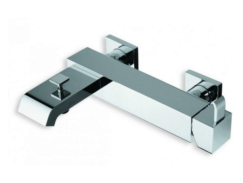 Wall-mounted chrome-plated single handle bathtub mixer QUADRI | Chrome-plated bathtub mixer by CRISTINA