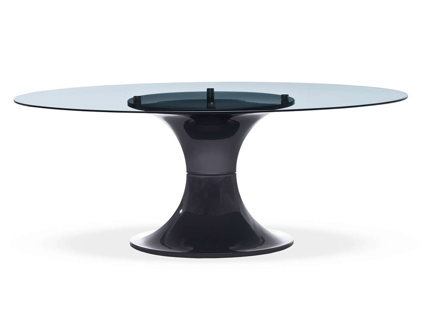 Round glass table LONDON by Midj