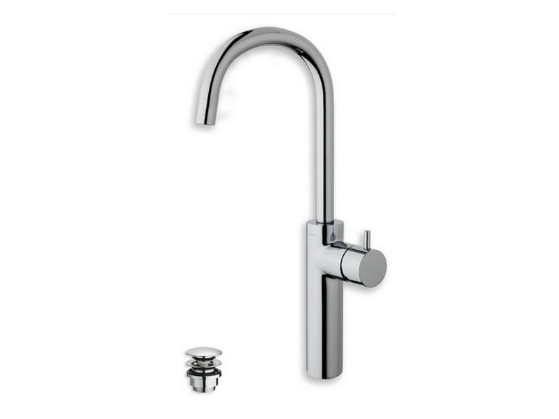 Washbasin mixer with automatic pop-up waste TRICOLORE VERDE | Single handle washbasin mixer by CRISTINA