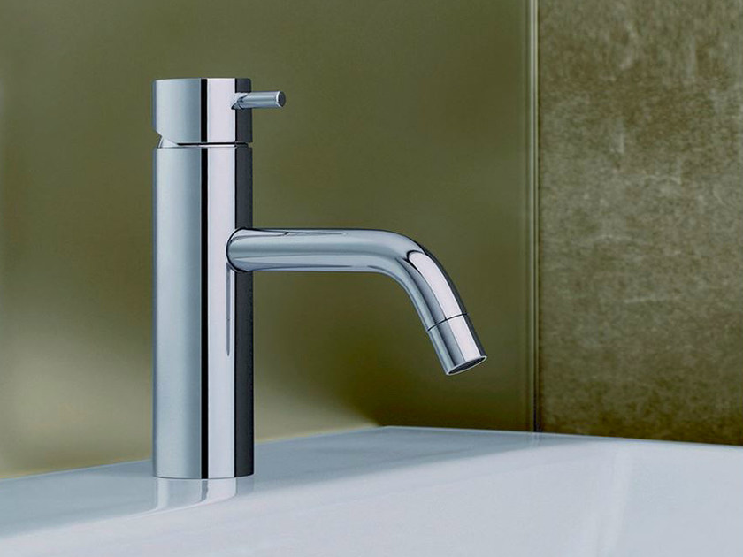 Chrome-plated countertop single handle washbasin mixer TRICOLORE VERDE | Washbasin mixer by CRISTINA