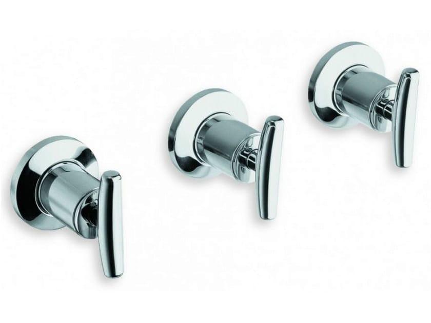 3 hole wall-mounted chrome-plated bathtub tap SELTZ | Chrome-plated bathtub tap by CRISTINA