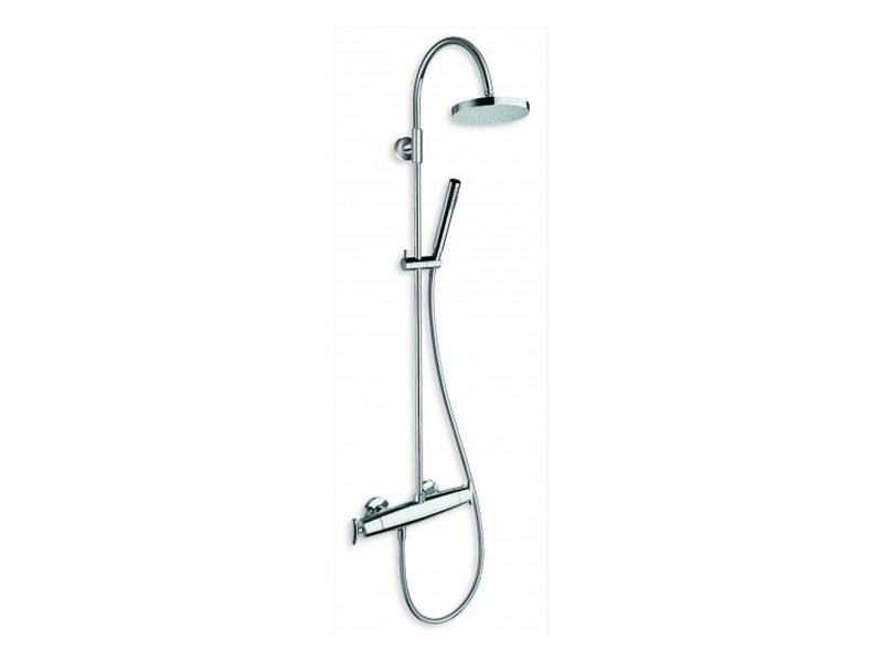 Wall-mounted shower panel with hand shower with overhead shower SELTZ | Shower panel by CRISTINA