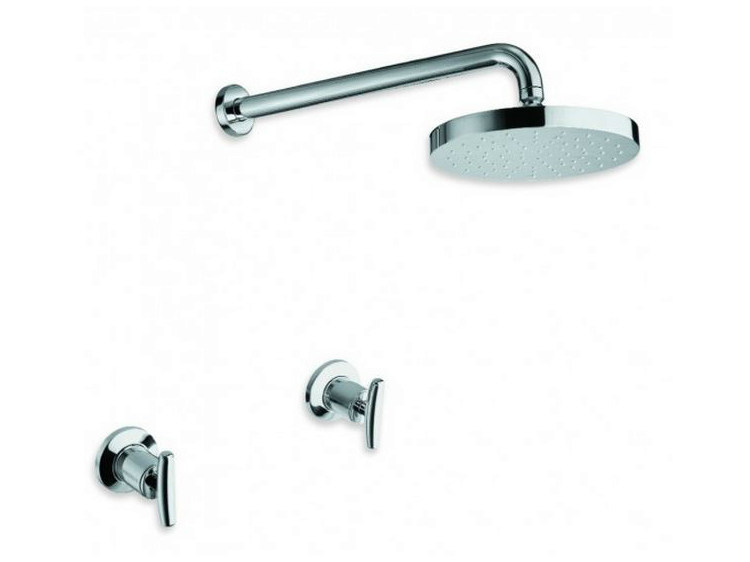 3 hole chrome-plated shower tap with overhead shower SELTZ | Shower tap with overhead shower by CRISTINA
