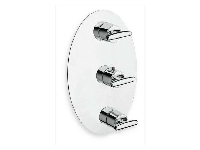 Chrome-plated thermostatic shower tap with plate SELTZ | Chrome-plated shower tap by CRISTINA