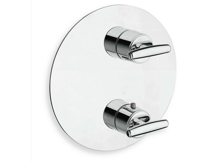 Chrome-plated thermostatic shower tap with plate SELTZ | Thermostatic shower tap by CRISTINA