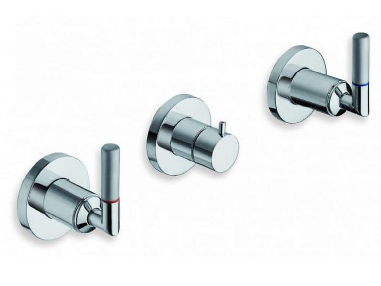 3 hole wall-mounted chrome-plated bathtub tap PICCHE ELITE | Bathtub tap by CRISTINA