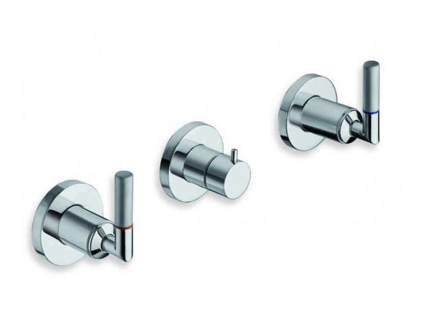 3 hole wall-mounted chrome-plated bathtub tap PICCHE ELITE   Wall-mounted bathtub tap by CRISTINA
