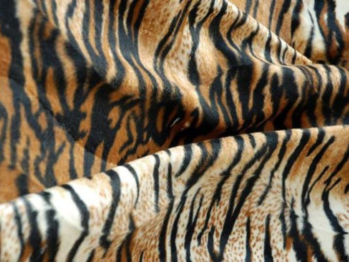 Animalier polyester fabric TIGRESSE by LELIEVRE