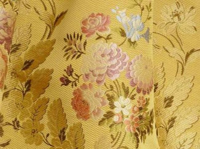 Louis XV fabric with floral pattern POMPADOUR by LELIEVRE