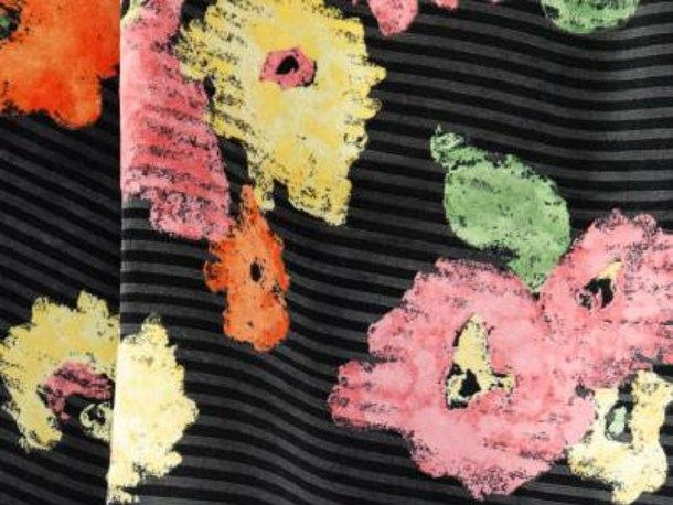 Cotton fabric with floral pattern RUE DE GRENELLE by LELIEVRE