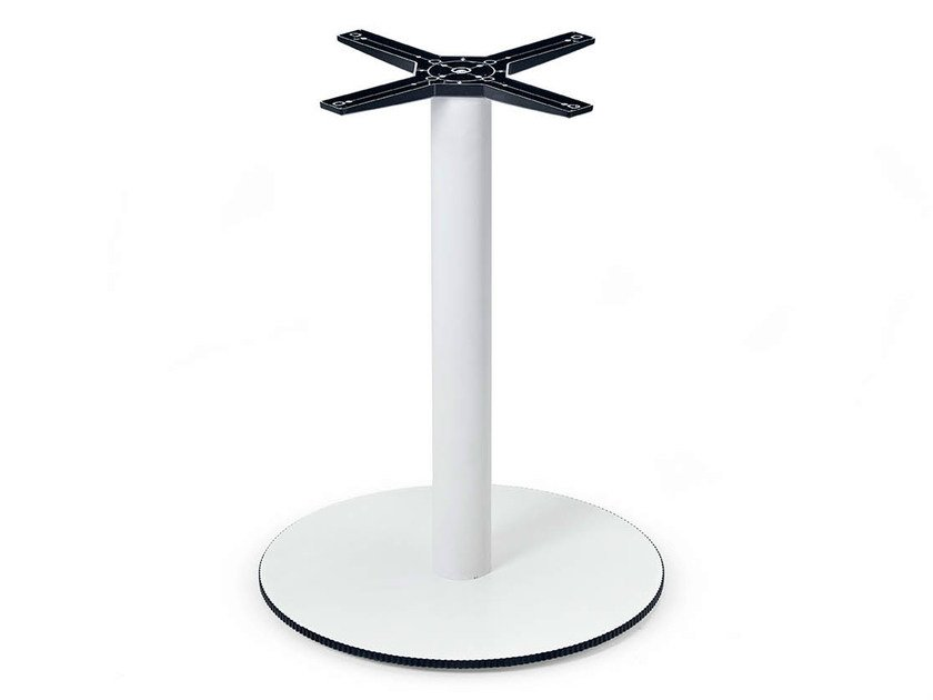 Stainless steel table base COMPOSIT/3 | Table base by Midj