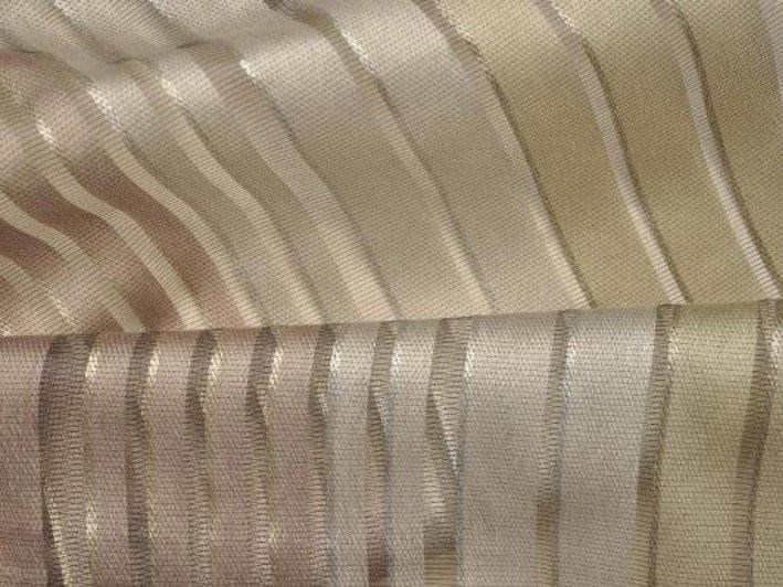 Striped solid-color fabric for curtains RUE MAZARINE by LELIEVRE