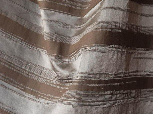 Striped solid-color devore fabric RUE DU BAC by LELIEVRE