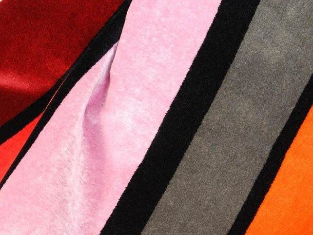 Striped multi-colored fabric RUE JACOB by LELIEVRE