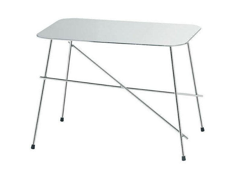 Rectangular stainless steel coffee table WALTER | Rectangular coffee table by Midj