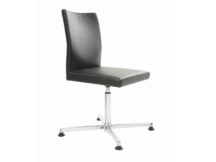 Leather task chair with 4-Spoke base FEEL | Task chair with 4-Spoke base by KFF