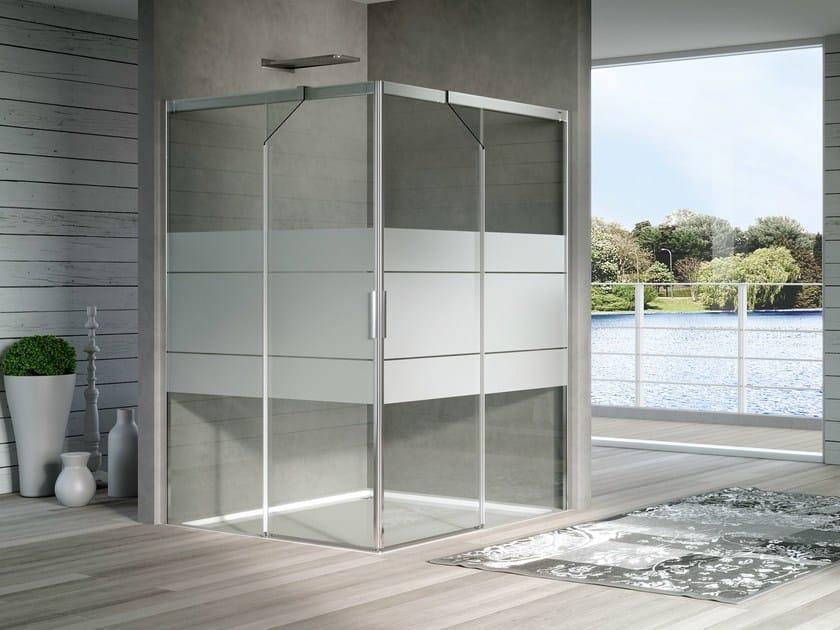 Box doccia in cristallo con porta scorrevole acqua r duka