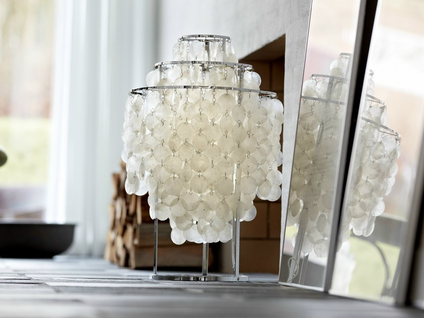 Design mother of pearl table lamp fun 1tm by verpan design verner design mother of pearl table lamp fun 1tm by verpan aloadofball Image collections
