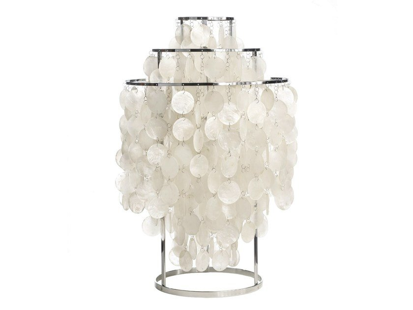 Design mother of pearl table lamp FUN 1TM by Verpan