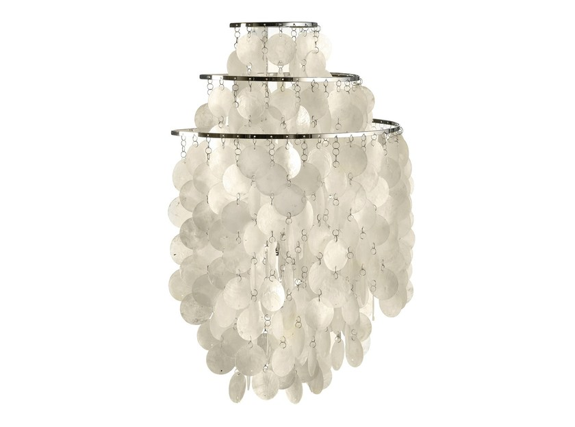 Mother of pearl wall lamp FUN 1WM by Verpan