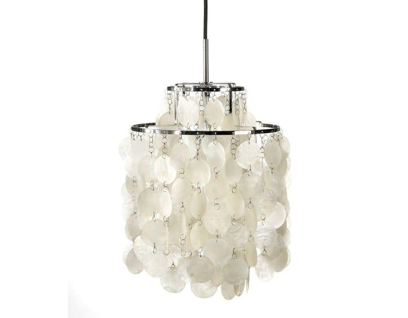 Mother of pearl pendant lamp FUN 2DM by Verpan