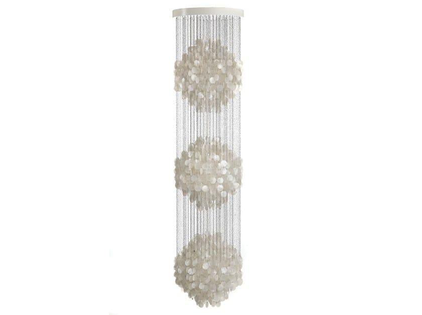 Mother of pearl pendant lamp FUN 3DM by Verpan