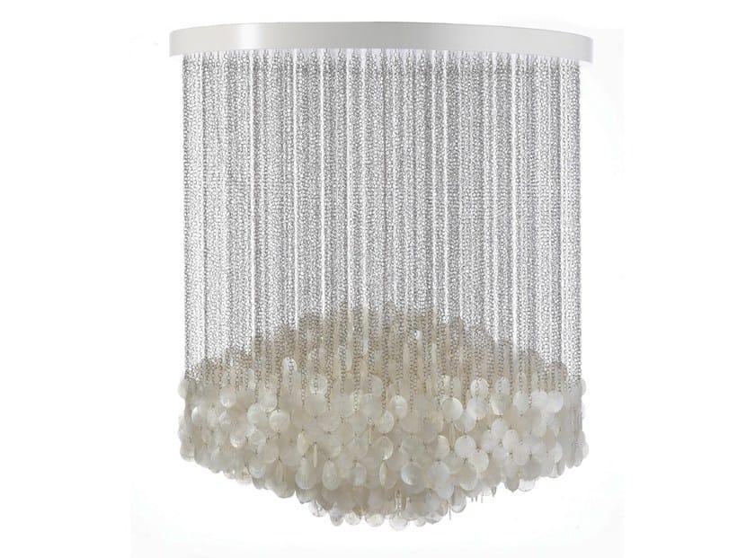 Mother of pearl pendant lamp FUN 7DM by Verpan