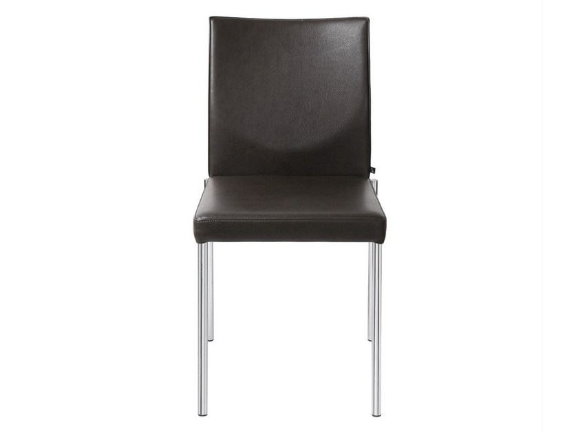 Upholstered leather chair GLOOH | Upholstered chair by KFF