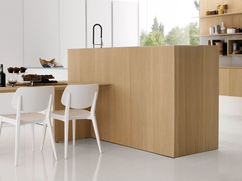 Wooden paneling for kitchen PAK by Euromobil