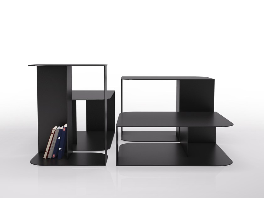 Sectional steel bookcase 2 PIEDS by VIDAME CREATION