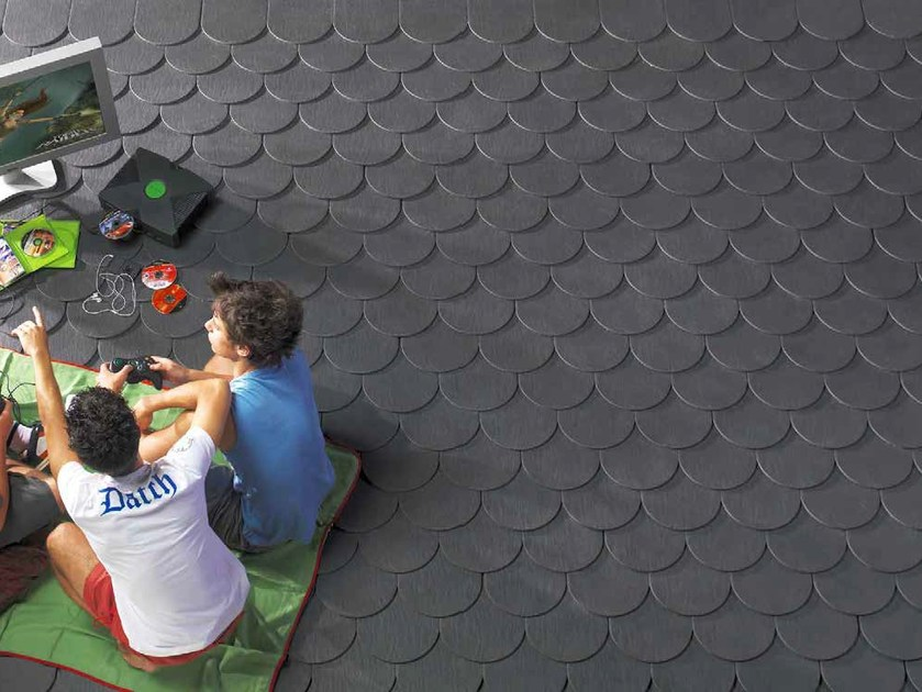Ceramic slate roof tile ARDESIA CERAMICA 25X40 DROP by ARDESIE CERAMICHE