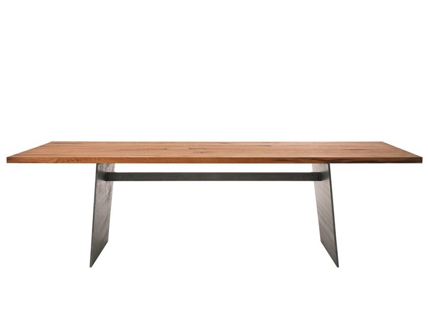 Rectangular reclaimed wood table BARBAROSSA by KFF