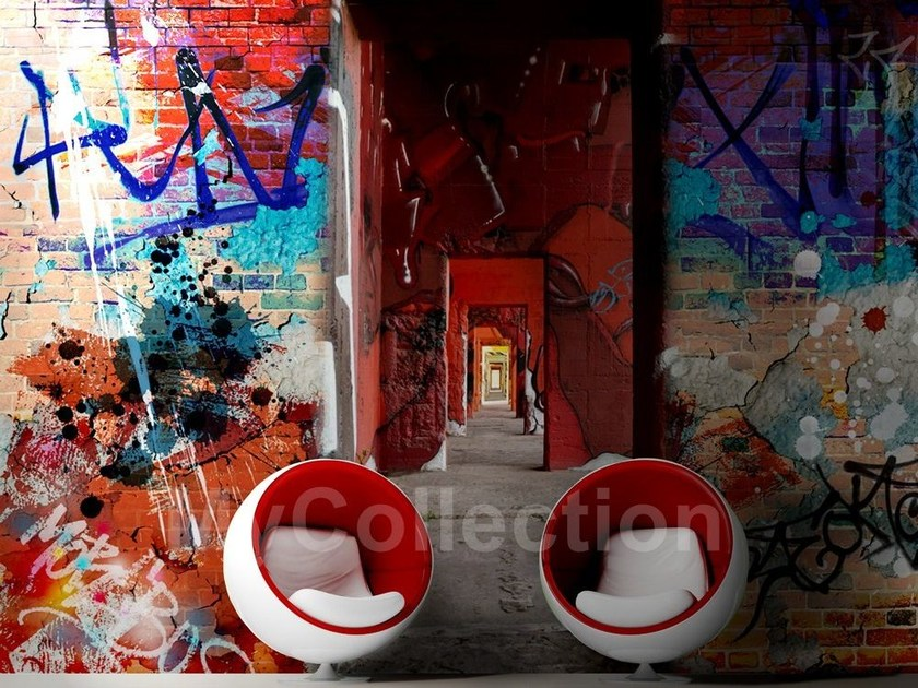 Wall-effect panoramic writing MURALES by MyCollection.it