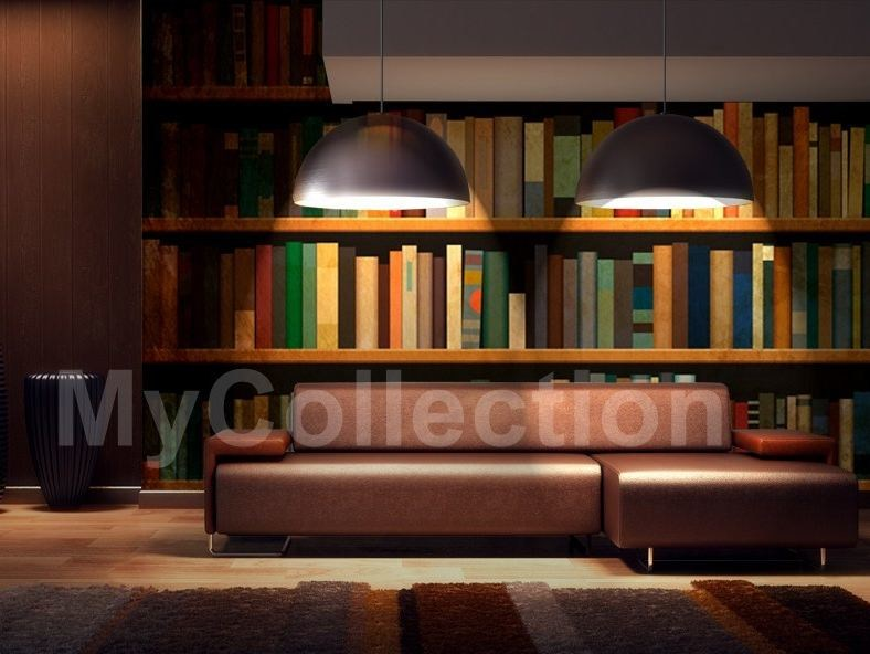 Motif nonwoven wallpaper BOOKCASE by MyCollection.it