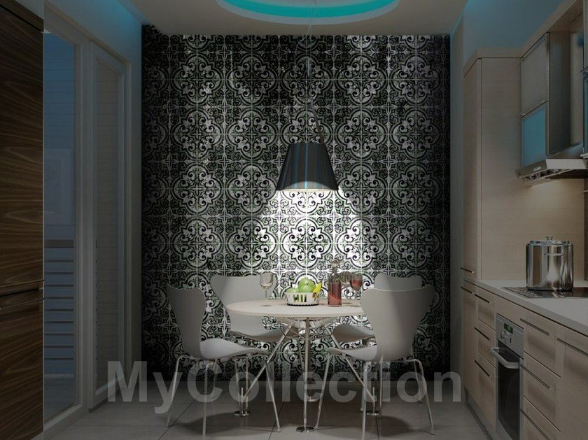 Motif stone-effect BLACK MAJOLICA by MyCollection.it