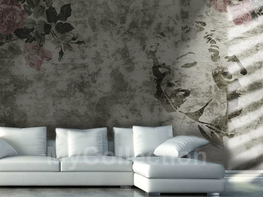 Pop art nonwoven wallpaper MARILYN by MyCollection.it
