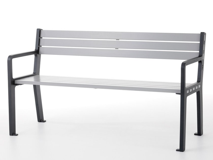 Wooden Bench with armrests FRANK by Nola Industrier