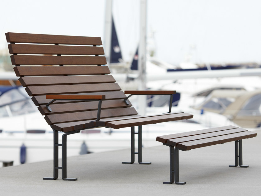 Bench with armrests KAJEN SUN by Nola Industrier