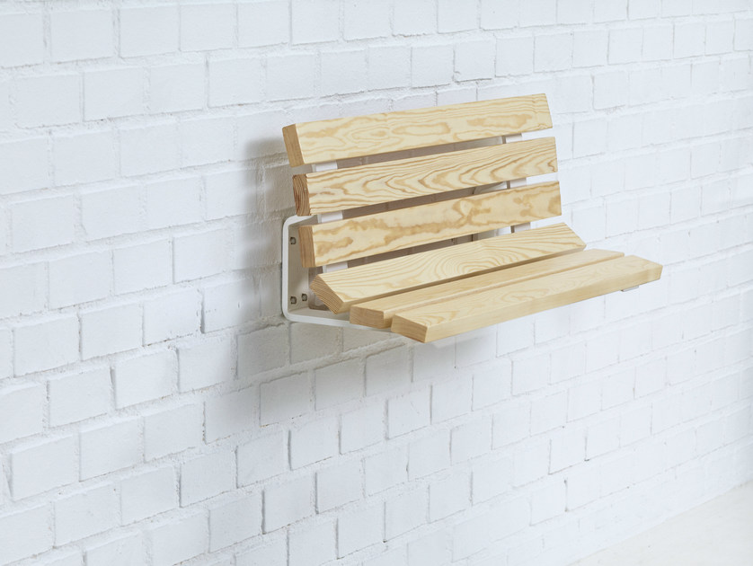 Wall-Mounted wooden Bench KAJEN MINI by Nola Industrier