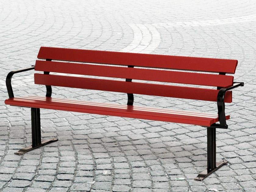 Wooden Bench with armrests KALMARSUND | Bench by Nola Industrier