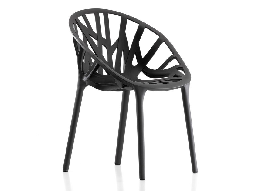 Stackable plastic chair VEGETAL by Vitra