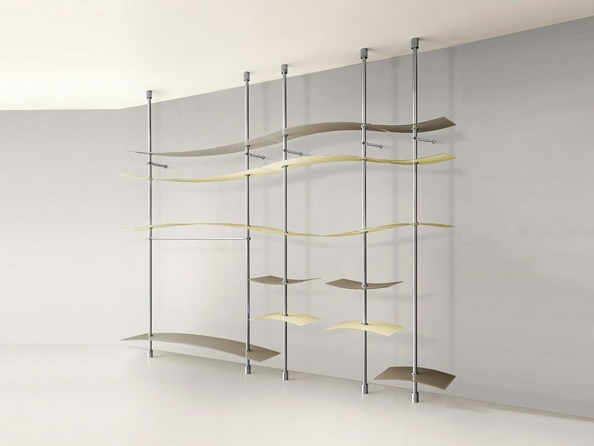 Sectional crystal walk-in wardrobe STREAM by Casali