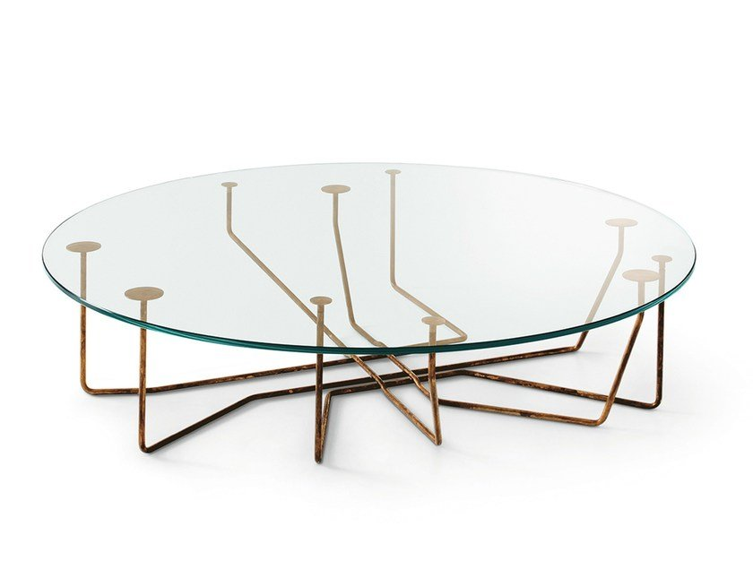 Round crystal coffee table CONNECTION by Gallotti&Radice