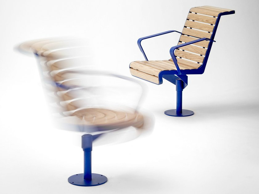 Wooden outdoor chair LE SOLEIL by Nola Industrier
