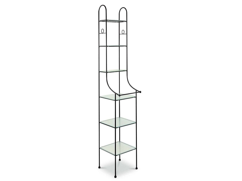 Tall iron bathroom cabinet COLONNA by Cantori